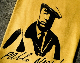 Pablo Neruda Inspired Screenprinted T-Shirt