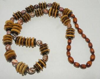 Vintage Autumn Necklace Multi Textural