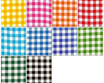 OilclothByTheYard    Large Gingham   Your choice by the Roll