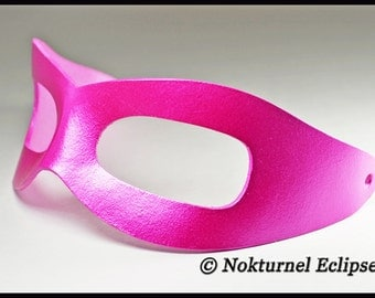 Sleek Pink Riddler Leather Mask UNISEX Batman Superhero DragonCon Comic Con Cosplay Halloween Costume Mash Up - Available in Any Basic Color
