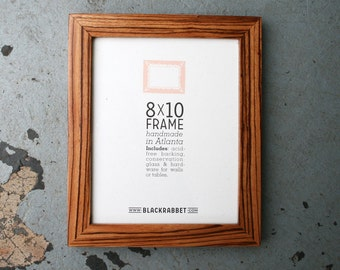 Exotic African Zebrawood Natural Finish Picture Frame (8x10)