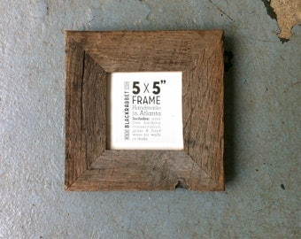 reclaimed oak picture frame 5x5