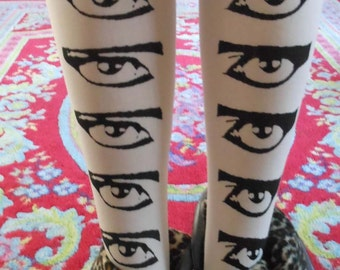 Siouxsie Sioux EYES tights stockings white Punk Death Rock Goth