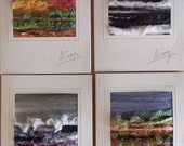 RESERVED FOR RENEE. Four Textile Art Cards