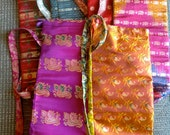 Upcycled Vintage Sari Yoga Mat Bag From India