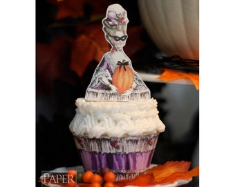 Ladies Autumn Masquerade Ball Printable Topper And Wrapper Set - Simply Print, Cut, Assemble, Enjoy