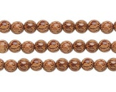 Coconut Wood Round Beads Natural 20mm 16 Inch Strand