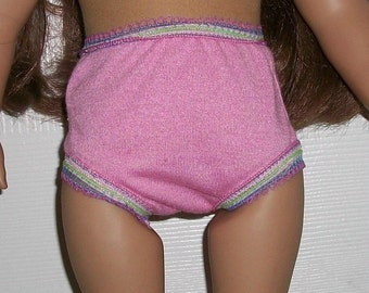 American Made 18 inch doll  Pink Panties -Multi Elastic