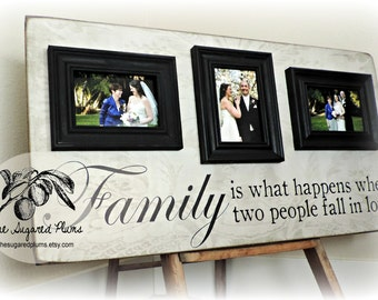 Personalized Picture Frame, Family Name Sign 16x30 Parents Thank You,  Father of the Bride, Mother of Bride, Wedding, The Sugared Plums