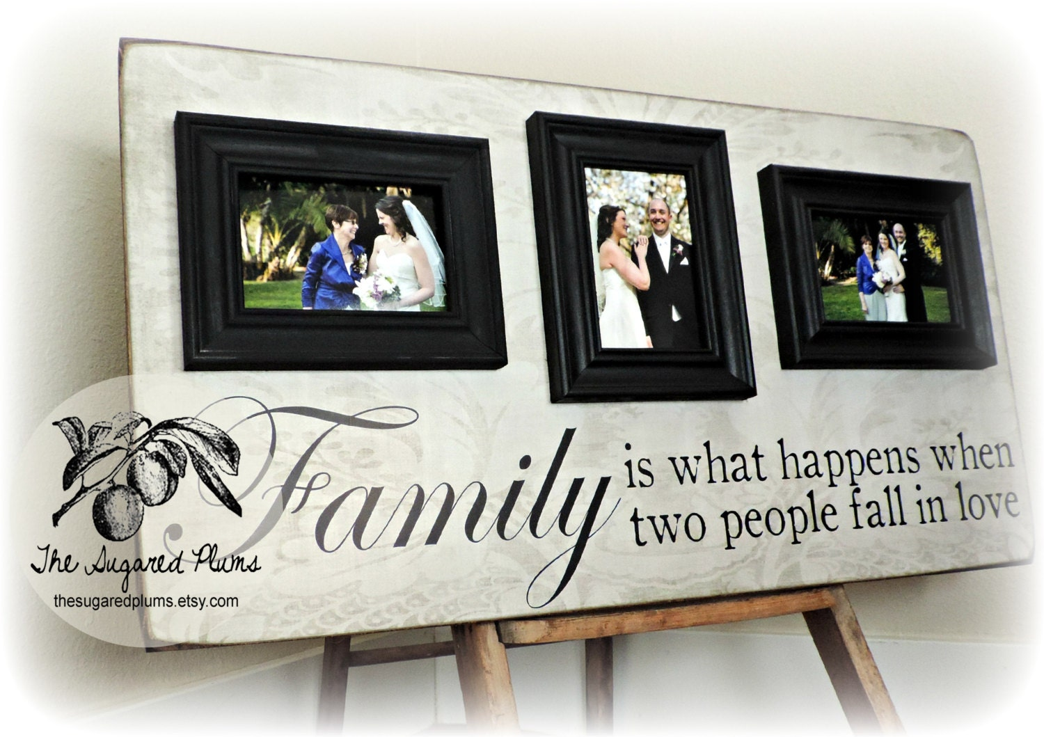 Personalized Picture Frame With Family Name Quote Family: Personalized Picture Frame Family Name Sign 16x30 Parents