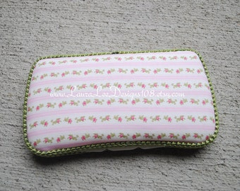 Pink Vintage Floral Stripes, Travel Baby Wipe Case, Diaper Wipe Case, Personalized Wipe Case, Baby Shower Gift, Diaper Bag Case, Wipe Holder