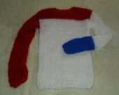 mohair sweater by camdenlock clothing punk rock red blue white hand knitting