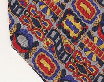 SALE Dior Wild Circus Tie retro wide tie red blue