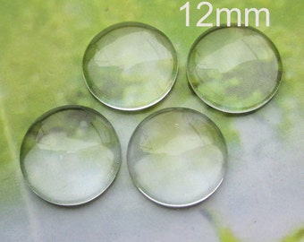 50pc 12mm Round Clear Glass beads,Transparent Glass cover beads