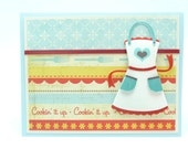 Happy Mother's Day Card, Mother's Day Cooking Card, Chef Greeting Card, Handmade Card