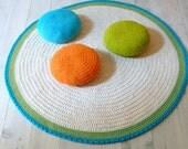 Round Rug floor crochet 100 cm.