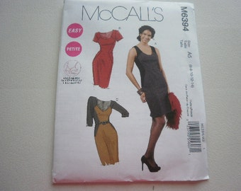 Pattern Ladies Dress 3 Styles Sizs3es 6 to 14 McCalls 6394