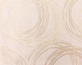 Custom Curtains with Ivory / Cream / Beige Circular Geometric Pattern One Panel with lining Custom sizes available