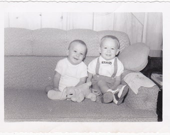 Two Boys on a Couch - Vintage Photograph (III)