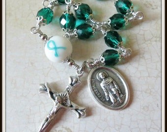 St. Peregrine Rosary, Ovarian Cancer/Cervical Cancer Rosary