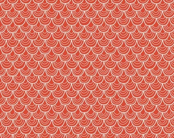 A Merry Little Christmas Scallop Red by Zoe Pearn for Riley Blake, 1/2 yard
