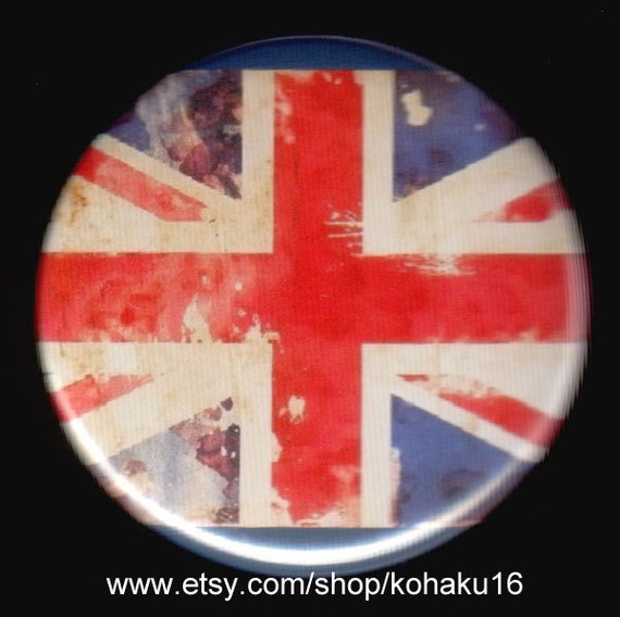 Faded Union Jack Button