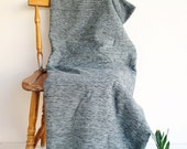 Cotton & Velvet Handwoven Gray Soft Warm Blanket,Seat Cover,Bedspread Naturel Ecofriendly Sofa,Seat Covers
