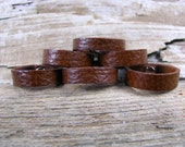 Unisex Brown Leather Ring - Brown Ring Band - Leather Jewelry - Leather Band - Leather Ring -