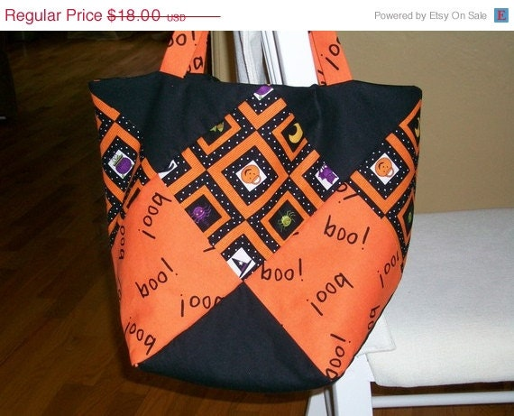 Handmade Quilted Trick or Treat Bags