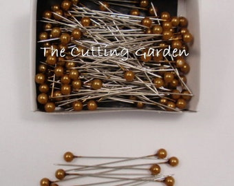 "Corsage / Boutonniere Pearl Gold Pins 2"" pk/144"