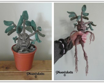 Mandrake Plant  :  Knitting pattern only IMMEDIATE DOWNLOAD