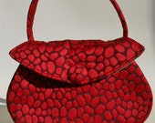 Red Pebbles Button Bag