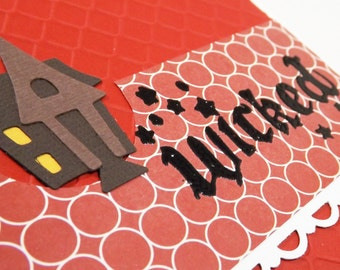 Wicked Haunted House Halloween Card - 10 percent to dog charity