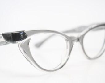 Gray cat eye glasses  vintage cateye eyeglasses frames