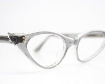 Gray Vintage Cat Eye Glasses Unused Cat Eye Eyeglasses