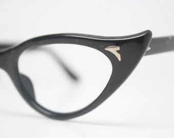 cat eye glasses curly black vintage eyeglass frames