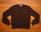 mens vintage shetland crew neck sweater