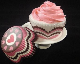 Heart Bottom Petal Cupcake Liners