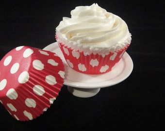Red with White Polka Dots Cupcake Liners
