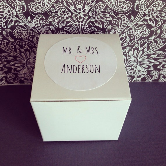 Wedding Gift Box Stickers : wedding favor boxes, custom wedding sticker boxes, glossy white boxes ...