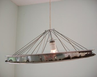 Twisted Rim... Recycled Bike Lighting