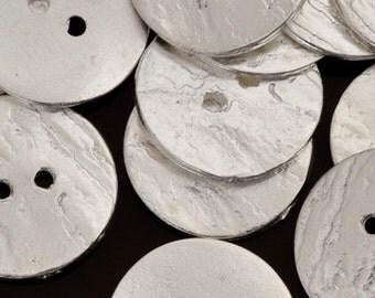 Button-20mm Cornflake-Casting-Silver-Quantity 2