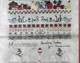 Mississauga Ontario Canada Sampler - Jeannette Douglas - Chart Fabric & Fibre Package