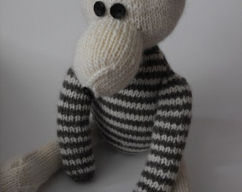 teddy bear Billy - hand knitted teddy bear made from wool and stuffed with hi loft polyester