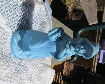 Little Blue Girl Vintage Avon Decanter