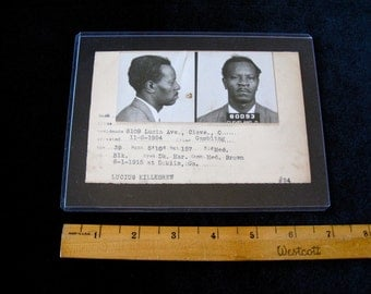 Cleveland Ohio Police Department Criminal MUG SHOT 1954 Gambler named Lucius
