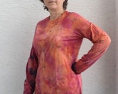 SALE: Citrus Spice Hued Double Knit Long Sleeve Shirt--Five Sizes