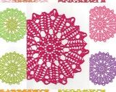 Linen Crochet Doily, Christmas Gift, Table decoration, Crocheted Doilie, Wedding Doilies, Eco friendly, Natural Coaster, CHOOSE YOUR COLOUR