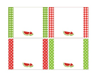 50% Off Sale! - PRINTABLE Summer or Watermelon Party Fancy Labels - INSTANT DOWNLOAD