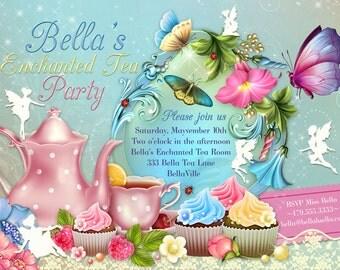 Fairy Tea Party Invitation, Birthday Tea Party, Tea Party, Garden Tea Party, Fairy Invitations, Tea Party